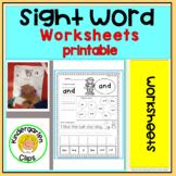 Kindergarten sight words/  Sight Word Center Power Up