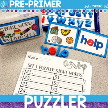 Sight Word Center   Pre-Primer Dolch