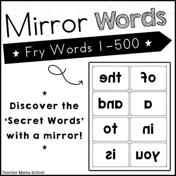 Sight Word Center - Secret Word in Mirror Fry First 300