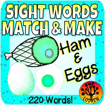 Sight Word Centers 220 Words Fine Motor Sight Word Activities Food Breakfast