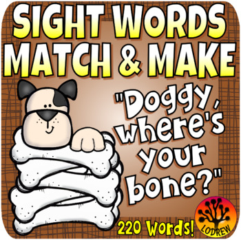 Sight Word Centers 220 Words Fine Motor Sight Word Activities Pets Dogs