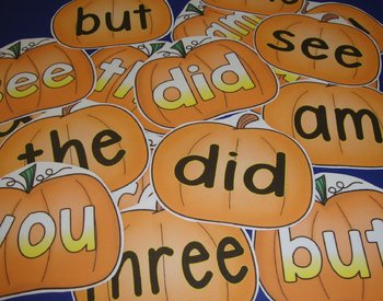 Sight Word Centers 220 Words Sight Word Activities Pumpkin Centers Fall