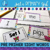 Pre Primer Sight Word Centers