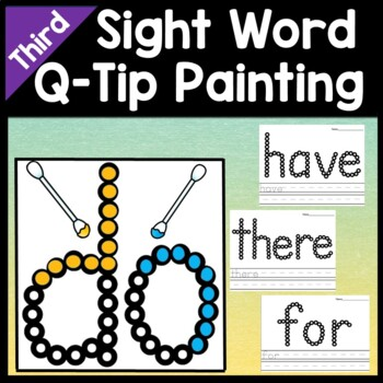 Third Grade Literacy Centers with Q-Tips and Paint {41 Words!}