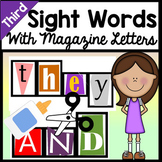 Third Grade Literacy Centers with Magazine Letters {41 Words!}