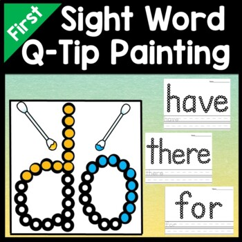 First Grade Literacy Centers with Q-Tips and Paint {41 words!}