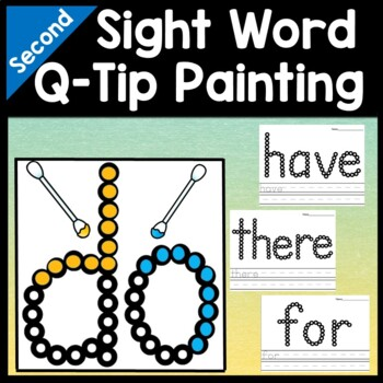 Second Grade Sight Words with Q-Tips and Paint {46 words!}