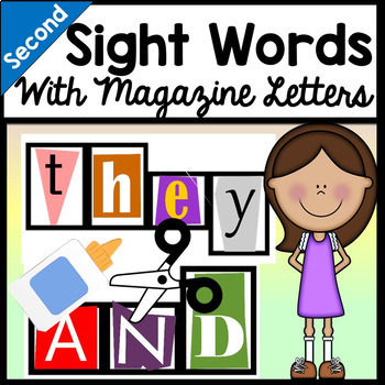 Second Grade Sight Words with Magazine Letters {46 words!}