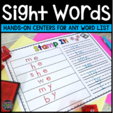 Sight Words Centers   Sight Word Practice   Word Work Centers