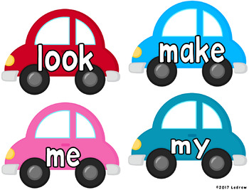 Sight Word Centers Activities 220 Words Literacy Centers Cars Transportation
