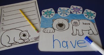 Sight Word Centers Activities 220 Words Polar Bear Centers Winter Sight Words