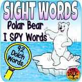 Sight Word Centers Activities I Spy Words Polar Bear Centers Winter Sight Words