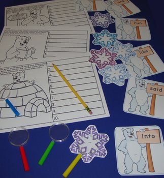 Sight Word Centers Activities I Spy Words Polar Bear Centers Winter Sight Words
