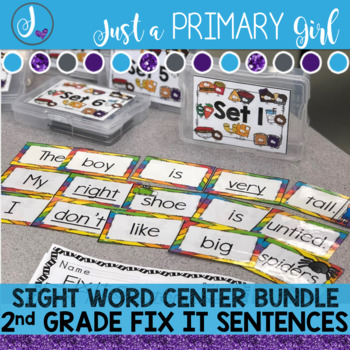 Sight Word Centers 2nd GRADE