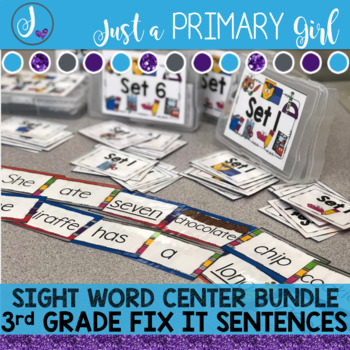 Sight Word Centers 3rd GRADE