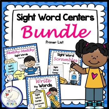 Sight Word Centers Bundle: Primer List