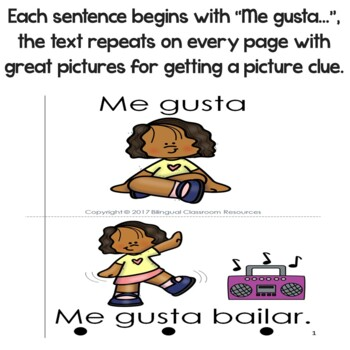 """Spanish High Frequency Words """"me"""" and """"gusta"""""""