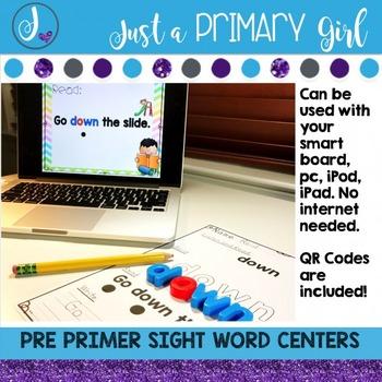 Sight Words Interactive Video Pre Primer