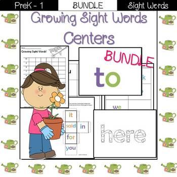 Sight Word Centers- Pre-Primer BUNDLE!