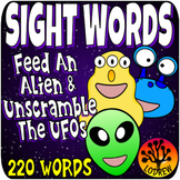 Sight Word Centers Outer Space Centers Activities 220 Words UFO Feed The Alien