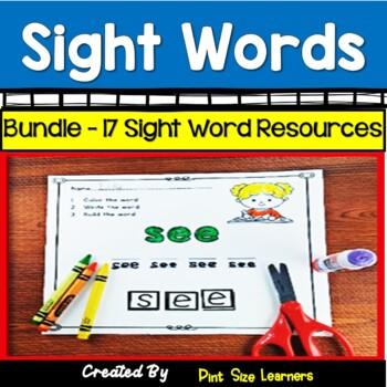 Sight Word Centers and Games for Kindergaten and First Bundle
