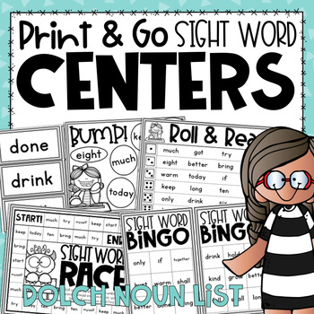 Sight Word Centers {for Practicing the Dolch Noun Sight Word List}