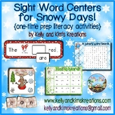 Sight Word Centers for Snowy Days! {one-time prep literacy