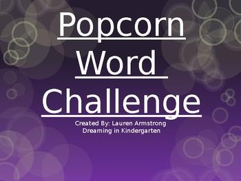 Sight Word Challenge-List 1-Kindergarten