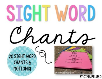 Sight Word Chants, Songs, & Poems