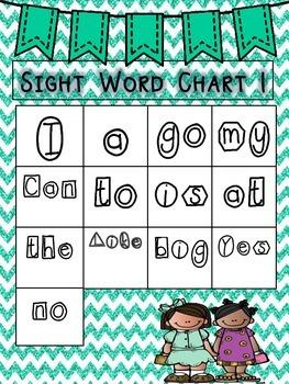 Sight Word Charts!