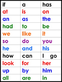 Free Sight Word Charts, Stories & Songs