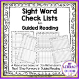 Sight Word Check List for Guided Reading