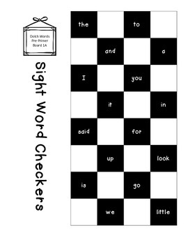 Sight Word Checkers Game