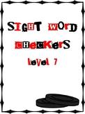 IRLA Aligned Sight Word Checkers Level 7