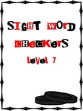 IRLA Aligned Sight Word Checkers Level 7