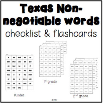 Sight Word Checklist & Flashcards