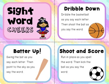 Sight Word Cheers