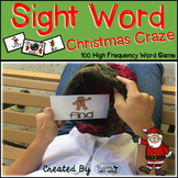 "Sight Word Activities ""Christmas Craze!"" - 100 Sight Words Reading Game"