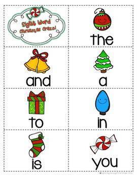"""Sight Word Activities """"Christmas Craze!"""" - 100 Sight Words Reading Game"""