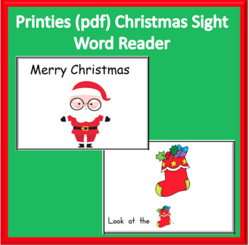 Sight Word Christmas Reader 9 pages