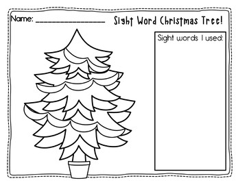 Sight Word Christmas Tree Literacy Center