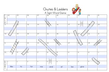 Sight Word Chutes & Ladders (Editable)