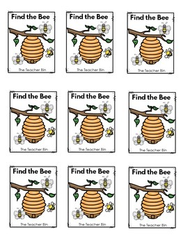 Kindergarten-Special Education- Sight Word Class Game -Find the Bee!