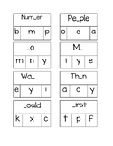 Sight Word Clip Cards 74-98