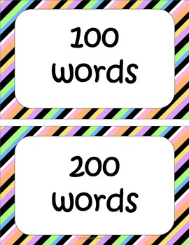 Sight Word Clip Chart and Data Tracker