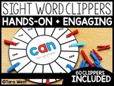 Sight Word Clippers (EDITABLE)