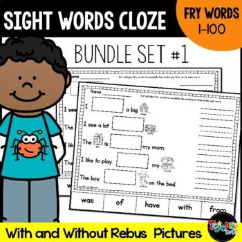 Sight Word Cloze Bundle: Fry Words 1-100