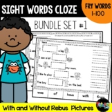 Sight Word Cloze Sheets: Fry Words 1-100