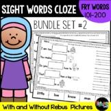 Sight Word Cloze Sheets Set 2: Fry Words 101-200