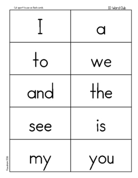 Sight Word Clubs: An Easy Home-School Learning System For Sight Words